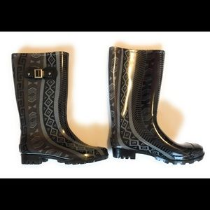 Austin new rubber/rain boot, Sz 9, black